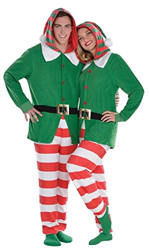 [Elf Zipster Adult Large/X-Large] (Womens Christmas Elf Costume)