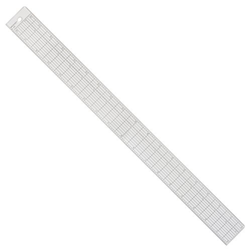Westcott Grid Ruler with Metal Cutting Edge, 1.5 x 18.5