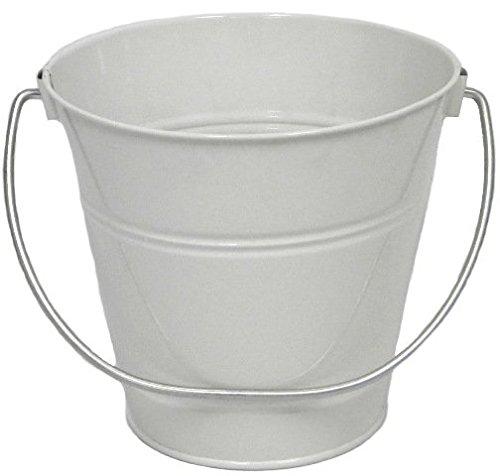 ITALIA 10426 5.5 x 6 In. White Metal Bucket - 6 Pack