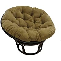 International Caravan 3312-MS-JV-IC Furniture Piece Rattan 42-inch Papasan Chair with Micro Suede Cushion