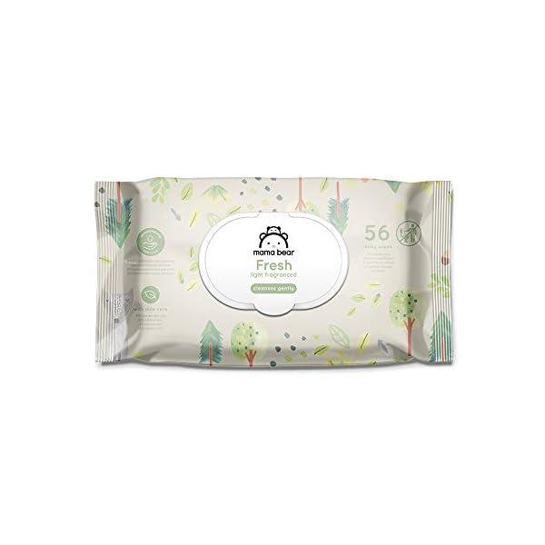 Marchio Amazon - Mama Bear Fresh Salviette umidificate per bebè – 18 confezioni (1008 salviette) 2