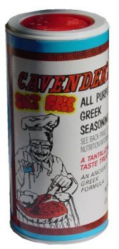 Cavenders All Purpose Greek Seasoning, Salt Free(No MSG), CASE (12x7oz) by Cavenders