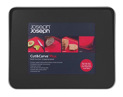Joseph Joseph 60002 Cut & Carve Multi-Function Cutting Board, Large, Black
