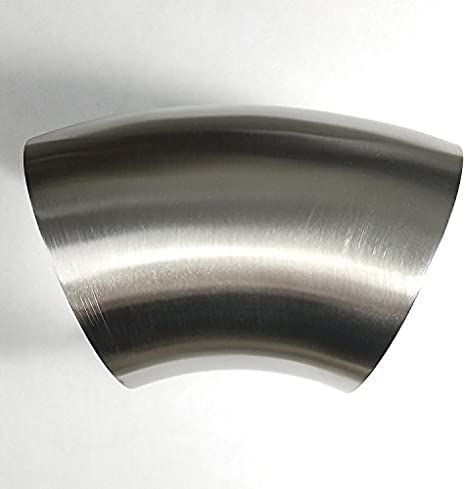 """2/"""" 90 degree butt weld elbow .065 Thickness Sanitary 304 Stainless Steel QTY 5"""