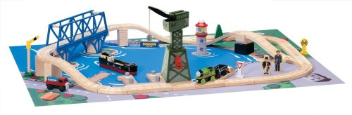 (Thomas & Friends Wooden Railway- Down by The Docks Set)