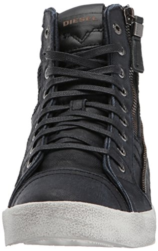 Diesel Mens D-velows D-string Plus Denim Fashion Sneaker Nero