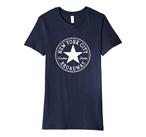 Womens New York City BROADWAY NYC UNITED STATES USA T-Shirt Large - Nyc Shop Broadway Fashion