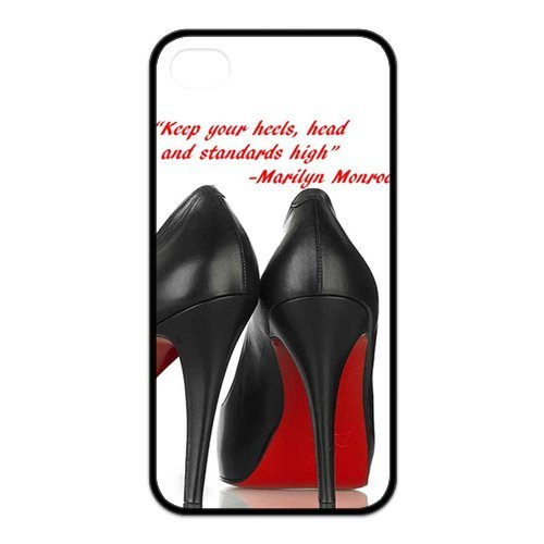 Fayruz- Marilyn Monroe Quotes Protective Hard TPU Rubber Cover Case for iPhone 4 / 4S Phone Cases A-i4K535