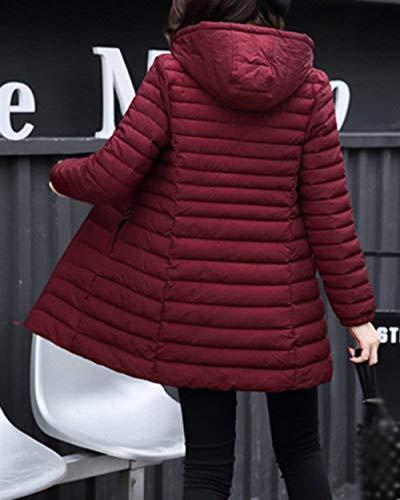 Acolchado Pluma Abrigo Rot Mujeres Fit Slim Mujer Largos Termica Invierno Talla Manga Casuales Elegantes Espesar Encapuchado Grande Moda Battercake Parka Larga Plumas 8xwf0dq18