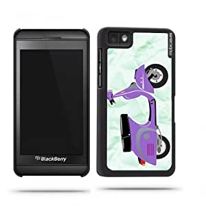 Vintage Scooter Purple Blackberry Z10 Case - For Blackberry Z10