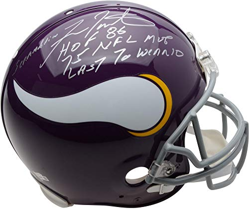 Fran Tarkenton Minnesota Vikings Autographed Riddell Authentic Pro-Line Helmet with Multiple Inscriptions - Limited Edition of 12 - Fanatics Authentic Certified ()