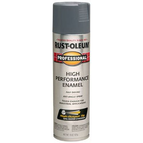 Rust-Oleum 7587838 Professional High Performance Enamel Spray Paint, 15 oz, Dark Machine Gray