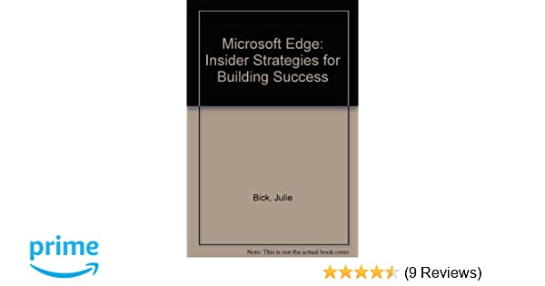 the microsoft edge insider strategies for building success