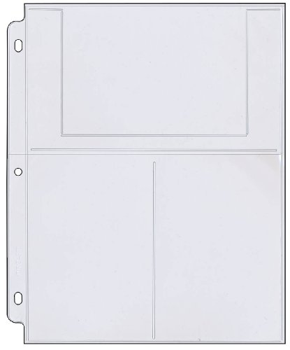 StoreSMART - Photo/Postcard Page for 3-Ring Binders - Archival-Safe Plastic - Three 4