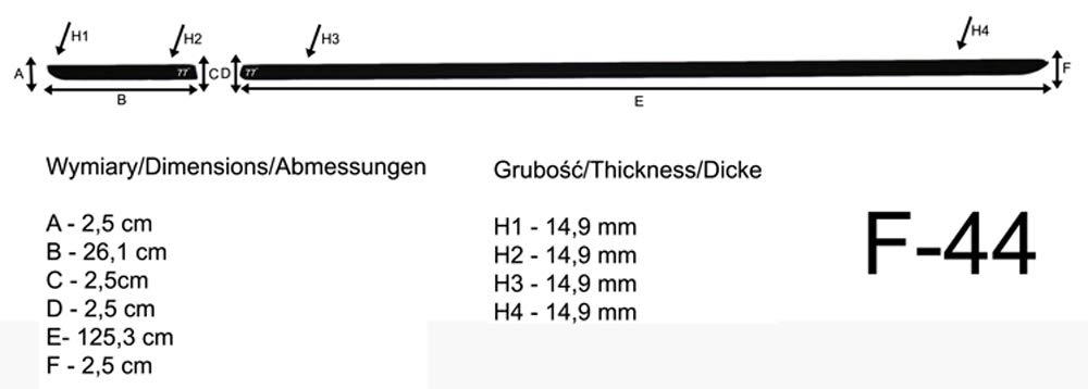 Spangenberg Baguettes de Protection lat/érales pour Volkswagen VW Up Hayon 370004404 UP /à 3 Portes /à partir de 2012 F44