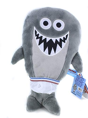 Tighty Whitey Toys Adorable Animal with Underwear 12 Inches Cuddly Plush Stuffed Toys - Party Favors - Halloween Christmas Xmas Birthday, Valentine Gifts for Kids Boys Girls (Sebastian Shark)]()