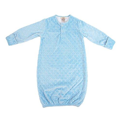 My Blankee Sleeper Gown Minky Dot, Blue, 3-6 Months