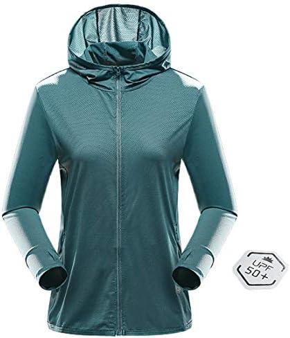 UPF 50+ UV Sun Protection Women's Clothing Zip Up Hoodie Long Sleeve Fishing Running Hiking Jacket Outdoor Performance Shirt