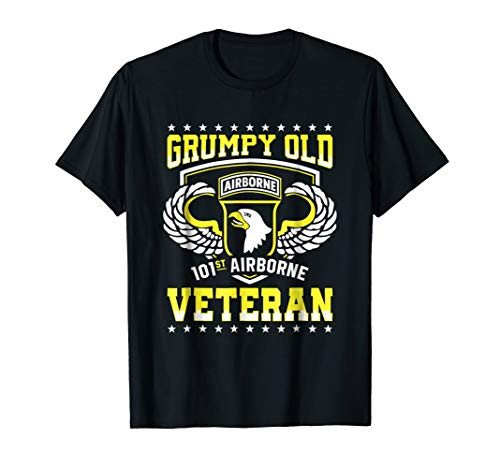 Grumpy Old 101st Airborne Division Veteran T Shirt