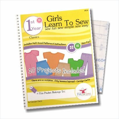 Kids Can Sew® Girls Learn to Sew 1st Year Sewing Pattern Book Packet - Classic Clothing Styles by Kids Can Sew & Fashion Design