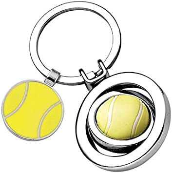 Amikado Llavero Pelota de Tenis con Grabado de Nombre ...