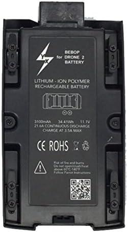 Momola Batterie LiPo Rechargeable Haute capacité 3100mAh 11.1 v pour Parrot Bebop 2 Drone