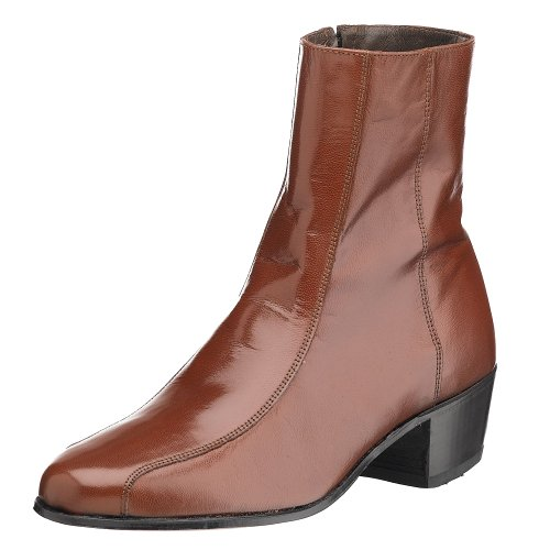 Florsheim Men's Duke Side Zip Dress Boot ,Cognac,11 D