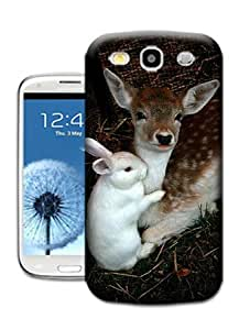 Bradley's Shop Deer and Rabbit Wallpaper Phone Cases for SAMSUNG GALAXY S3