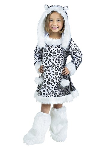 Fun World Halloween Costumes (Fun World Costumes Baby Girl's Snow Leopard Toddler Costume, White/Black, X-Large(4-6))