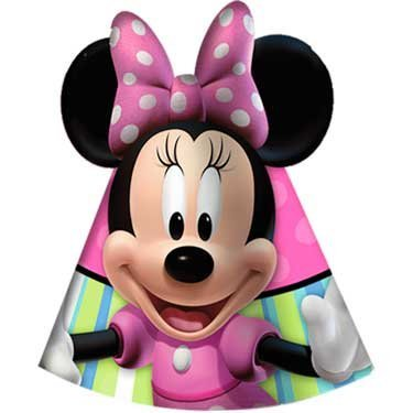 Minnie Mouse Party Hat - Disney Minnie Mouse Bow-tique Cone Hats Party Accessory
