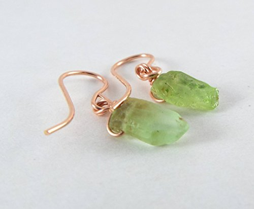 Raw Peridot Simple Rose Gold - Raw Peridot
