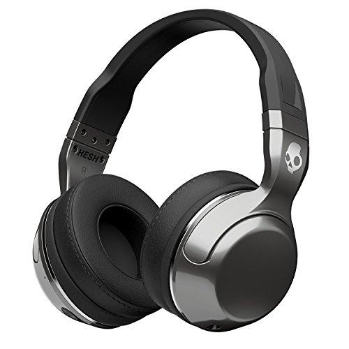 Skullcandy Hesh 2 Bluetooth Wireless Headphones with Mic, Black/Silver