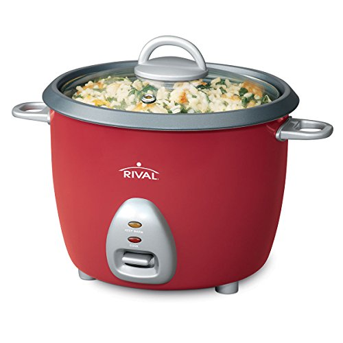 Rival RC61 6-cup Rice Cooker w/Steamer, Red (Rice Cooker Steamer Rival compare prices)