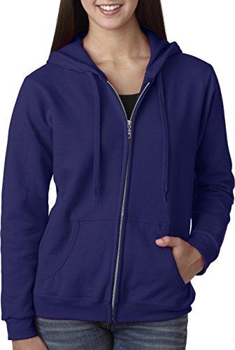 Gildan Womens Full Zip Hooded Sweatshirt