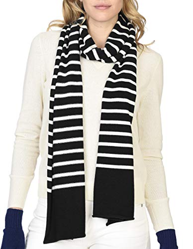 State Cashmere 100% Pure Cashmere Stripe Scarf - Ultimate Soft and Cozy -Elegant Fashion Wrap Scarves 80