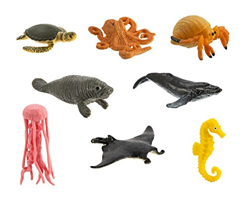 Safari Ltd. Good Luck Minis - Sea Life Fun Pack - 8 Pieces - Quality Construction from Phthalate, Lead and BPA Free Materials - For Ages 5 and Up