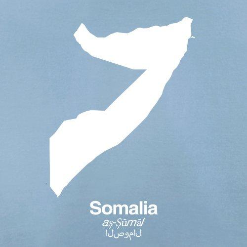 Somalia / Bundesrepublik Somalia Silhouette - Damen T-Shirt - Himmelblau - XL