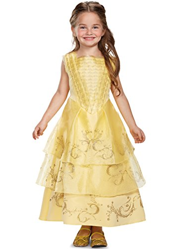 Disguise Belle Ball Gown Deluxe Movie Costume, Yellow,