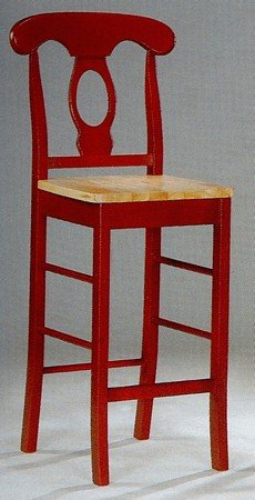 Napoleon Style Bar Stool/Stools Kitchen Chair in Red Wood Finish (Set of 2 & Amazon.com: Napoleon Style Bar Stool/Stools Kitchen Chair in Red ... islam-shia.org