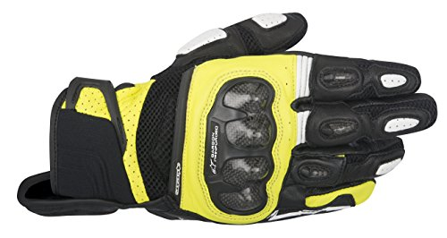 Alpinestars SP-X Air Carbon Men's Street Motorcycle Gloves - Black/Yellow / (Alpinestars Spx Leather)