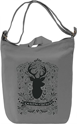 Amazing things Borsa Giornaliera Canvas Canvas Day Bag| 100% Premium Cotton Canvas| DTG Printing|