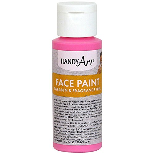 Handy Art Face Paint, Pink, 2-Ounce (Pink Face Paint)