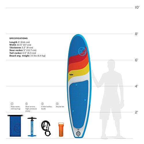 Jimmy Styks AirSurf 8' Longboard | Surfboard | 8' Long, 22 5