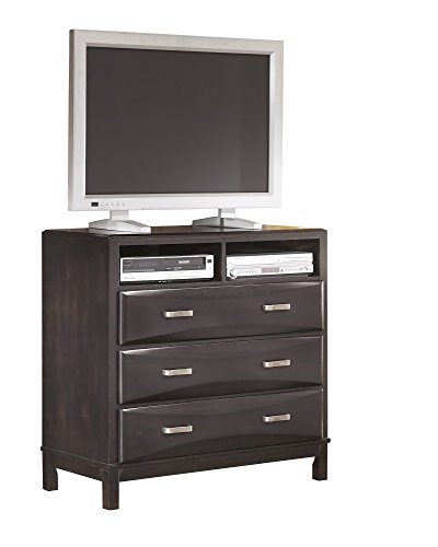 Ashley Kira Media Chest in Almost Black by Ashley Furniture