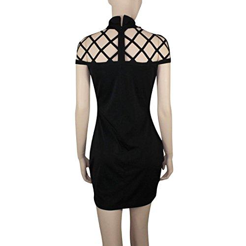 Moda Abito Nero Zarupeng Donna Aderente Casual Vestito Popolare Sottile Vestiti Vuoto Top qngFZ