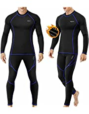 Thermal Underwear for Men Long Johns Set with Fleece Lined Base Layer Top Bottom