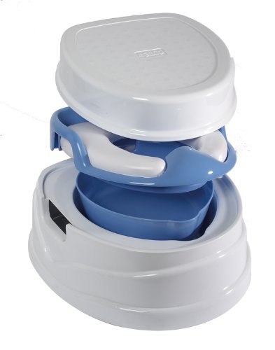 Tippitoes Soft Seat Trainer, Potty and Step Stool (White/Blue)
