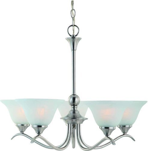 Dover 12-7134 Series Satin Nickel 5-Light Chandelier