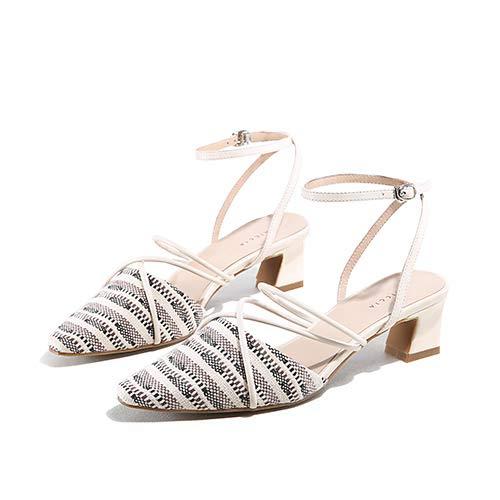 Yukun zapatos de tacón alto Zapatos Individuales Puntiagudos Femeninos Gruesos con Alta Y Pequeña Hebilla Fresca Palabra con Ocio A245P Gray