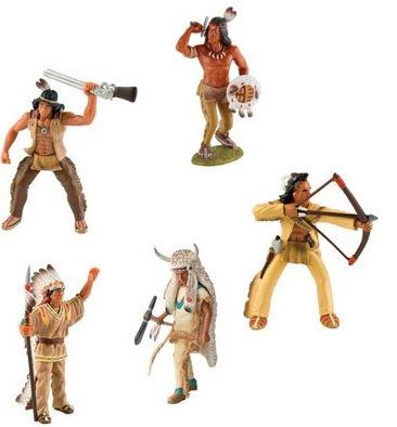 Bullyland Indianer alle 5 Figuren als Set